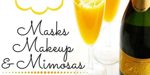 Lunchtime Mask, Makeup, and Mimosas