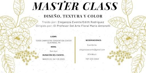 Diseño, Textura y Color Master Class
