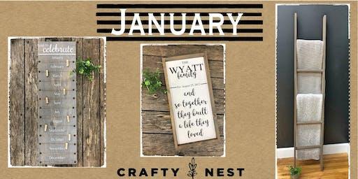 January 31th Public Workshop at The Crafty Nest DIY  - Northborough