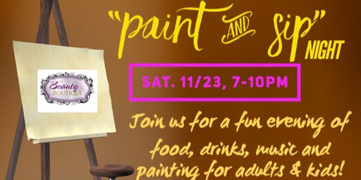 """Thankful 2019"" Client Appreciation PAINT & SIP NITE"