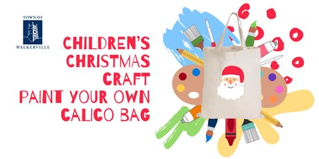 Children's Christmas craft: Paint your own calico bag tickets