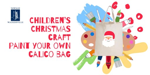 Children's Christmas craft: Paint your own calico bag
