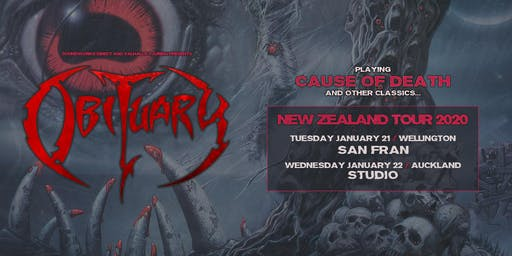 "Obituary ""Cause of Death"" NZ Tour - Wellington"