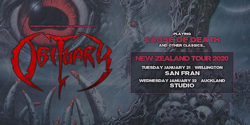 "Obituary ""Cause of Death"" NZ Tour - Wellington"