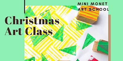MINI MONET: Printmaking & Wrapping Paper