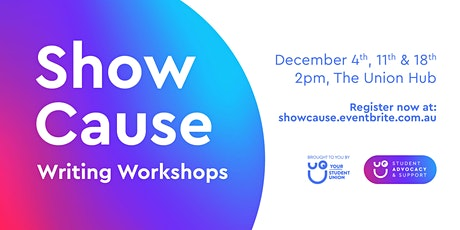 Show Cause writing workshop tickets