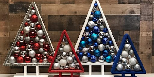 **SOLD OUT** Triangle Christmas Trees Stone & Pallet™ Eco Art that helps our community!