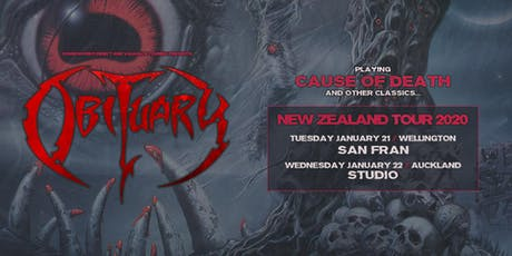 """Obituary """"Cause of Death"""" NZ Tour - Auckland tickets"""