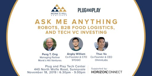 Ask Me Anything: Robots, B2B Food Logistics & Tech VC Investing