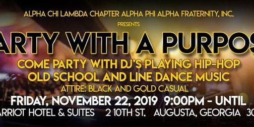 Black & Gold:  PARTY WITH A PURPOSE