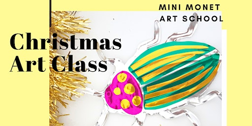MINI MONET ART CLASS: Christmas Beetles & Paper Weaving