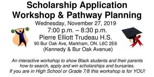 BFCN Scholarship Application Workshop - YRDSB East