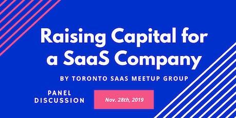 Raising Capital for a SaaS Company tickets