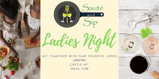 Sauté and Sip Ladies Night