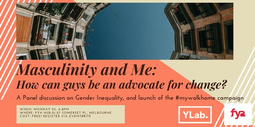 Masculinity and Me: A Panel Discussion and Campaign Launch