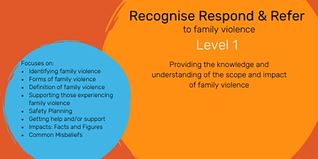 Recognise Respond and Refer to Family Violence Level 1 tickets