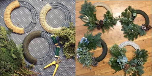 Holiday Wreath Workshop at Urbanrest (2pm session)