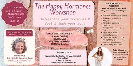 The Happy Hormones Workshop - Understand your hormones & feel your best tickets
