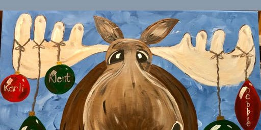 Moose Paint Party at Dos Chiles