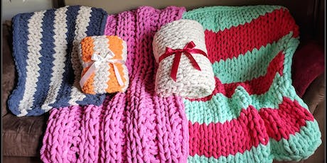 Sip and Knit Chunky Knit Blanket Class tickets