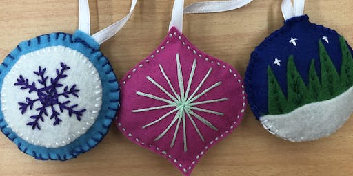Felt Decorations - Christmas Craft Workshops @ Noarlunga library