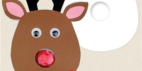 Christmas Craft - Father Christmas, Rudolf & the Lollipop Nose
