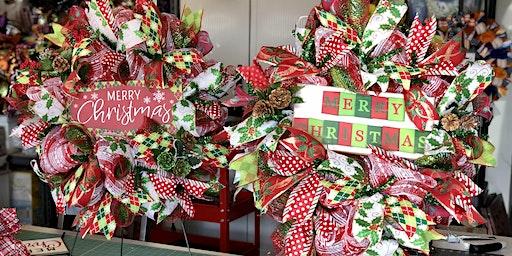 Three Elle Creations Wreath Making Class