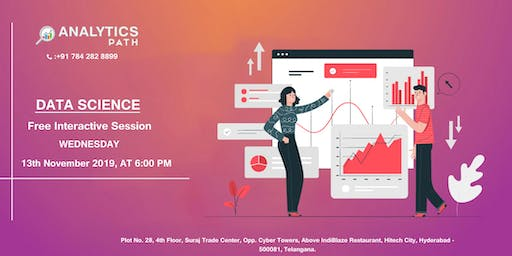 Register For Free Data Science Interactive Session By AP 13th Nov, 6 PM