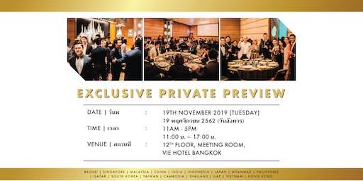 Exclusive Private Preview in Bangkok | 19 November 2019