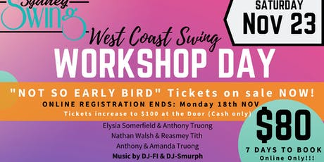 West Coast Swing WORKSHOP DAY tickets