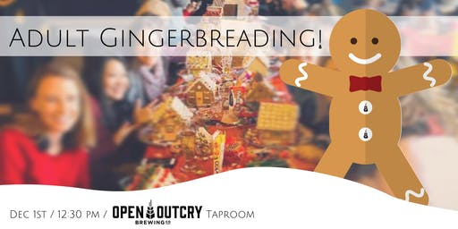 Adult Gingerbreading at Open Outcry Brewing