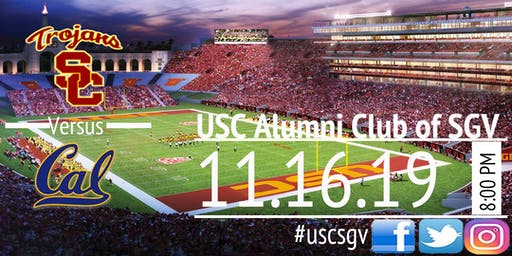 USC Football Game Watching Party- Cal Golden Bears