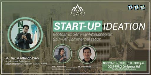 STARTUP IDEATION BOOTCAMP: Seminar-Workshop on Commercialization