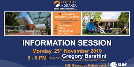 Foothill and De Anza College Information Session tickets