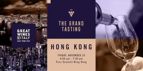 Great Wines of Italy 2019: Hong Kong Grand Tasting tickets