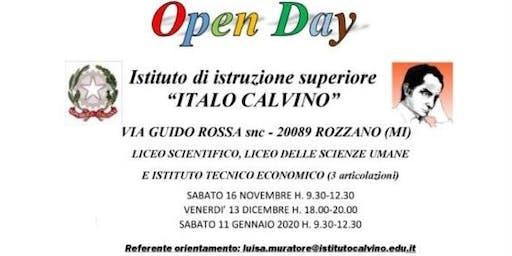 """Open Day Scuola Superiore """"Italo Calvino di Rozzano"""""""
