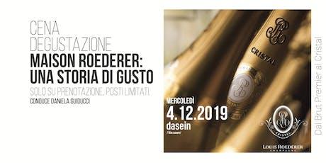 Degustazione Roederer: Dal Brut Premier al Cristal biglietti