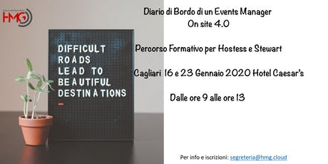 Diario di Bordo di un Event Manager On Site 4.0 biglietti