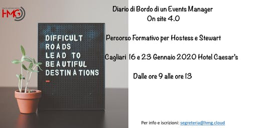 Diario di Bordo di un Event Manager On Site 4.0