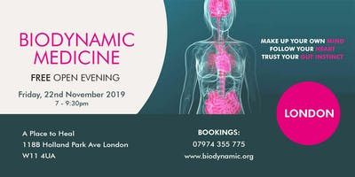 Biodynamic FREE Open Evening London