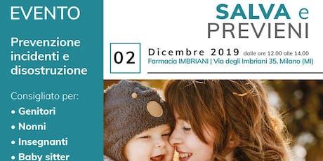 SALVA e PREVIENI_Farmacia Imbriani biglietti