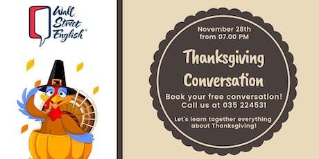 English Conversation: Thanksgiving day biglietti