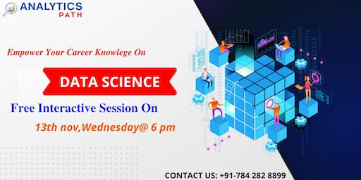 Register For Data Science Free interactive Session On 13th Nov at  6PM