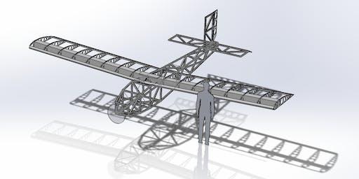 Giant Foamboard Plane build day