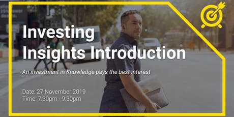 Investing Insights Introduction tickets