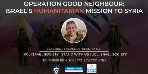 Israel's Humanitarian Mission to Syria