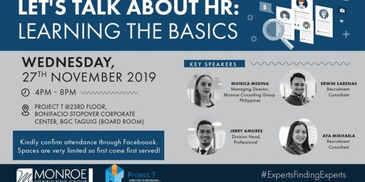 LET'S TALK ABOUT HR: LEARNING THE BASICS