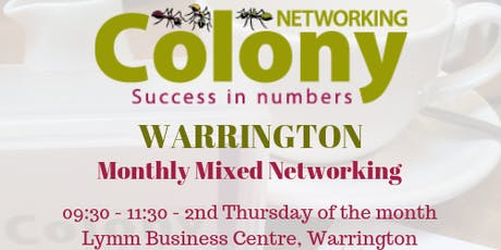 Colony Networking (Warrington) - 9 July 2020 tickets