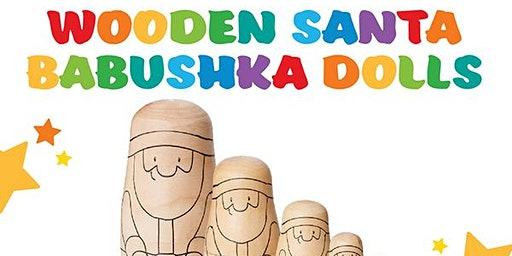 Decorate your own Wooden Babushka Dolls Set