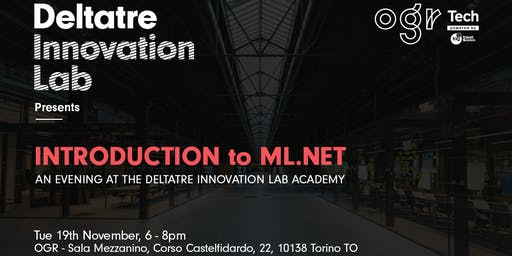 Deltatre Innovation Lab  AI meetup |  Introduction to ML.NET
